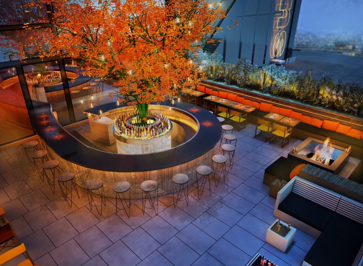 Sushi samba liverpool street london for Terrace restaurant bar