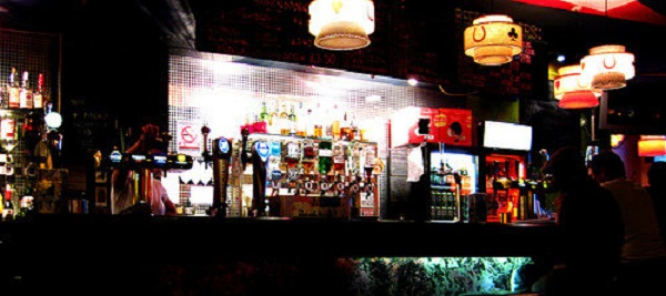 After the kitchen closes the bar at Sleazy's keeps on flowing