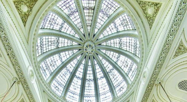 The stunning dome at Teller's Bar and Brasserie