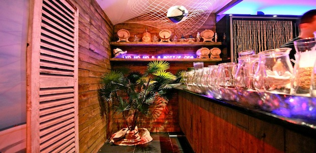 The bar at the Rum Shack