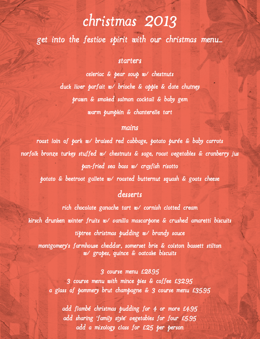 Christmas Party London | Happily Affordable Dinners, Lunch ...