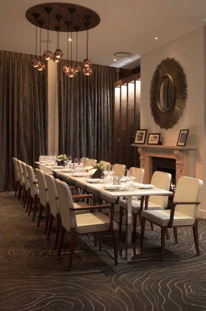 Sixtyone restaurant and champagne bar marylebone london for Best private dining rooms west end