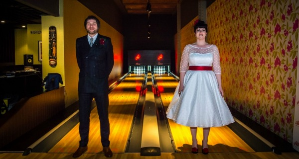 manchester first bowling alley wedding
