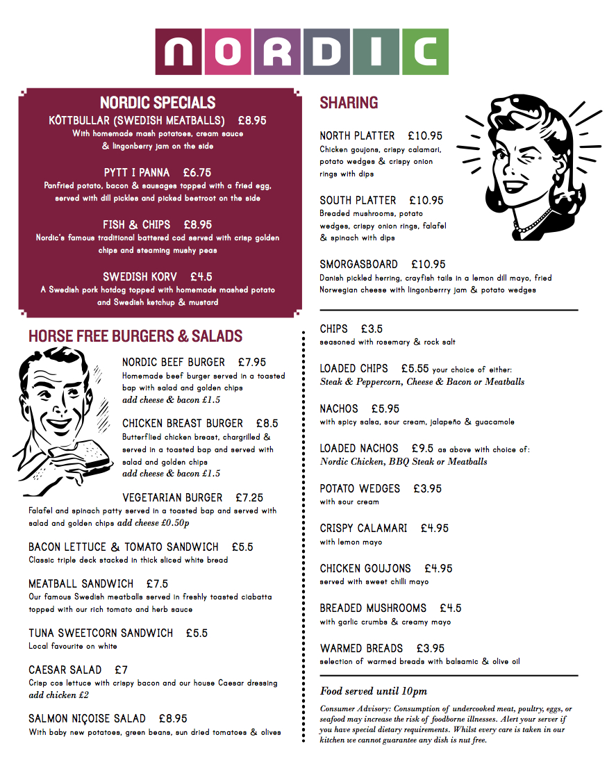 Nordic bar fitzrovia london for Food bar menu