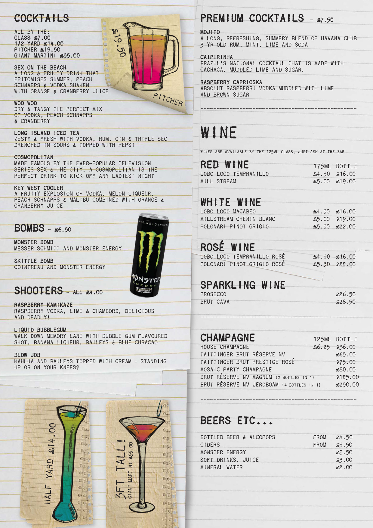 Bar Rumba Drink Prices