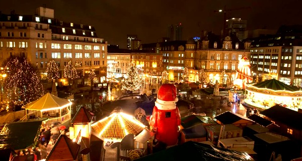 twinkly lights delicious smells and potent gluhwein fumes fill the air of birminghams frankfurt christmas market - Birmingham Christmas Market