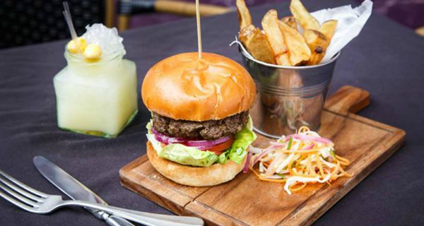 Jekyll and hyde, burgers, the blue and black burger