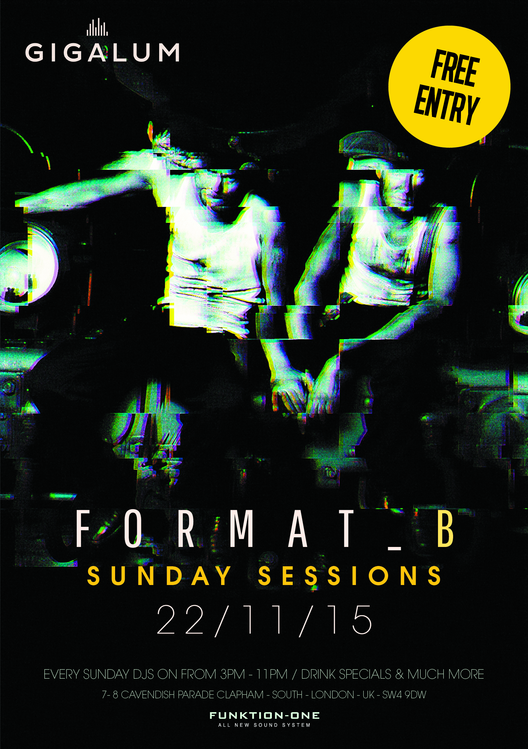 Special guests FORMAT: B Sunday Sessions | DesignMyNight