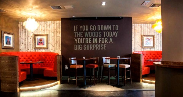 the woods glasgow quirky bar review