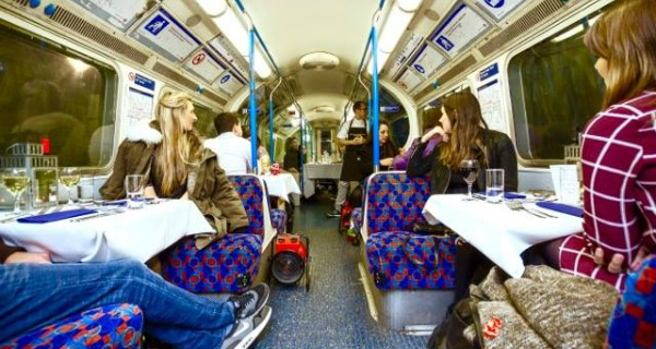 underground supper club tube carriage london