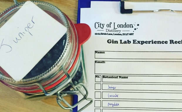 COLD Gin Lab Experience