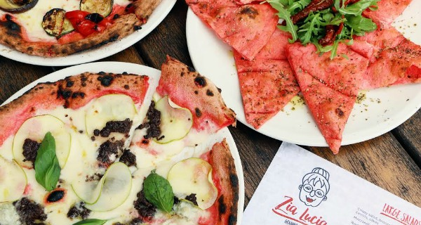zia lucia pink pizza london