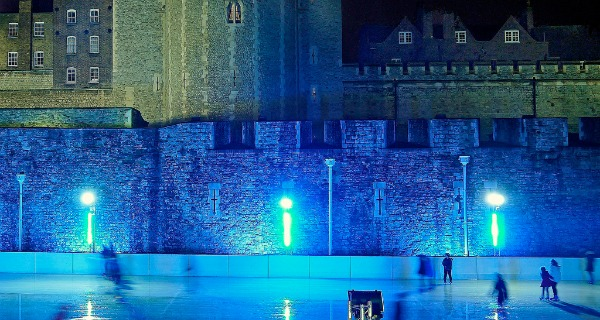 tower of london ice skating in london