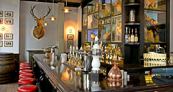 jugged hare, bar, mounted stag, city of london