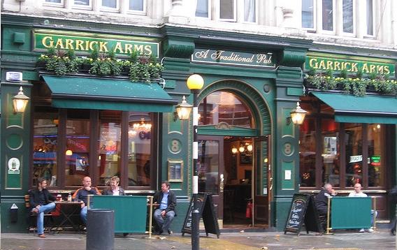 Garrick Arms Pub Soho Charing Cross Road Opening Times