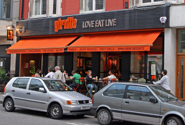 Giraffe restaurant bar wimbledon muswell hill london for Food bar giraffe