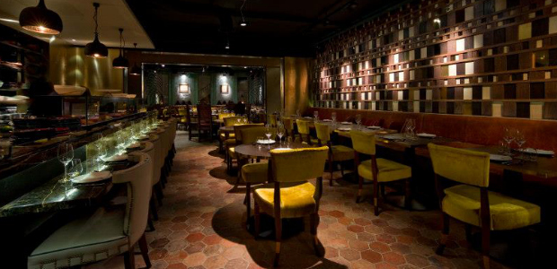 The Main Restaurant Area at Coya with The Open Kitchen