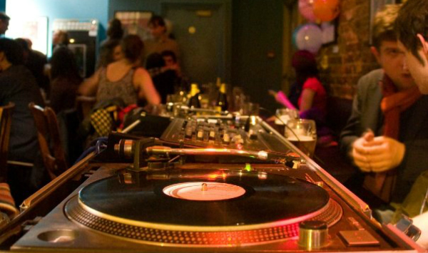 DJ decks at The Lauriston