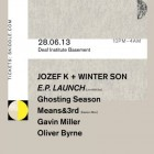 Fortsetzen 003 - Jozef K & Winter Son EP Launch