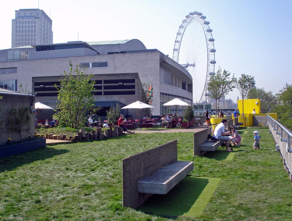 Queen Elizabeth Roof Garden And Cafe Waterloo London Bar