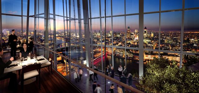 Aqua At The Shard Panoramic Views at London Bridge Bar