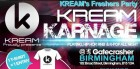 Kream Karnage Freshers Party
