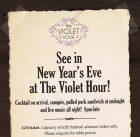 NYE at The Violet Hour