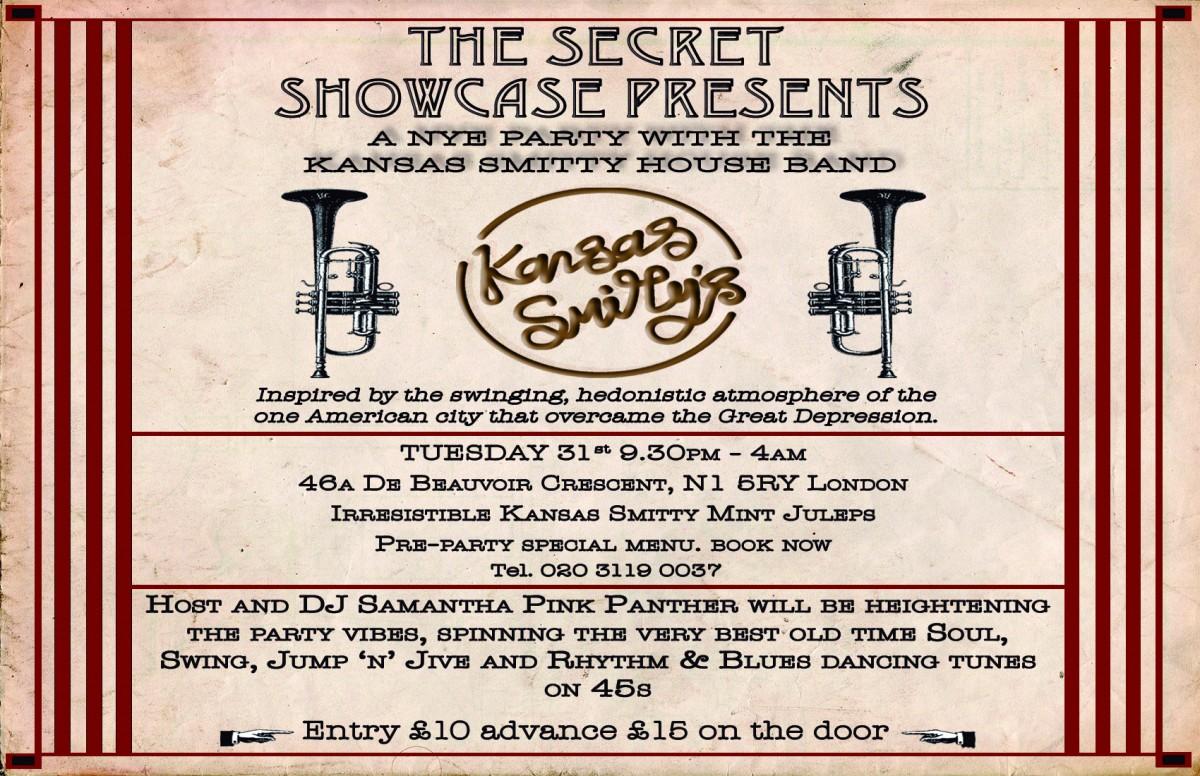 The Secret Showcase Presents    | East London, London New Years Eve