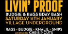 Livin' Proof - Rags & Budgie's Bday Bash