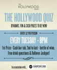 The Hollywood Quiz - every Tuesday