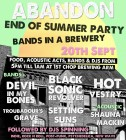 Abandon Presents: Bands in a Brewery - Big End Of Summer Bash!