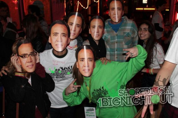 Cage Rage Wednesdays Bar Crawls featuring Nicholas Cage.