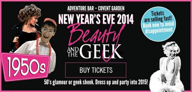 NYE 2014 - Beauty & The Geek 50's Party