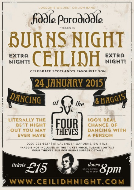 Burns Ceilidh Night – Extra Night!