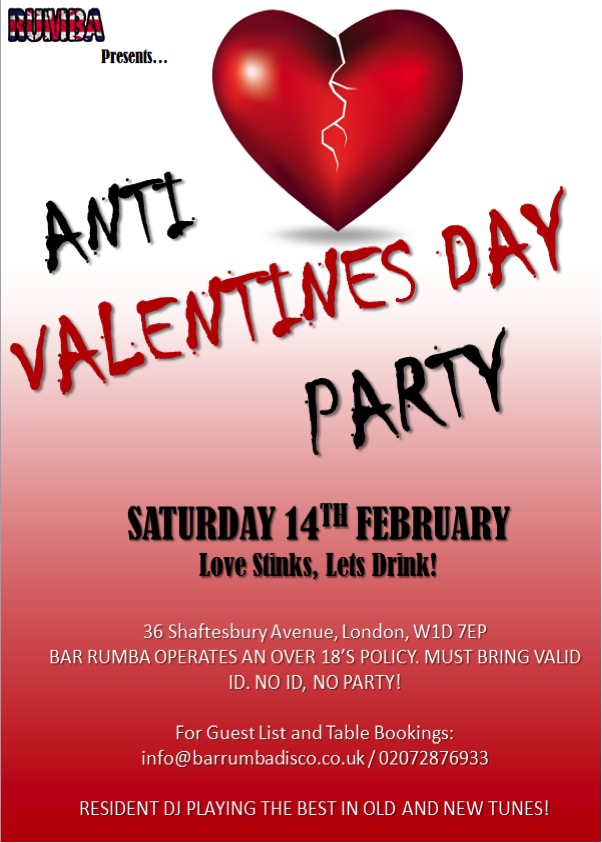 Anti-Valentines Day Party | West End, London Clubbing ...