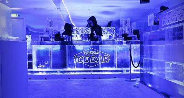 Coors Light Ice Bar Pop Up Spinningfields Manchester