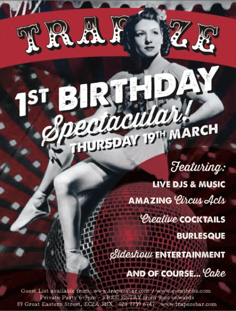 Trapeze 1st Birthday