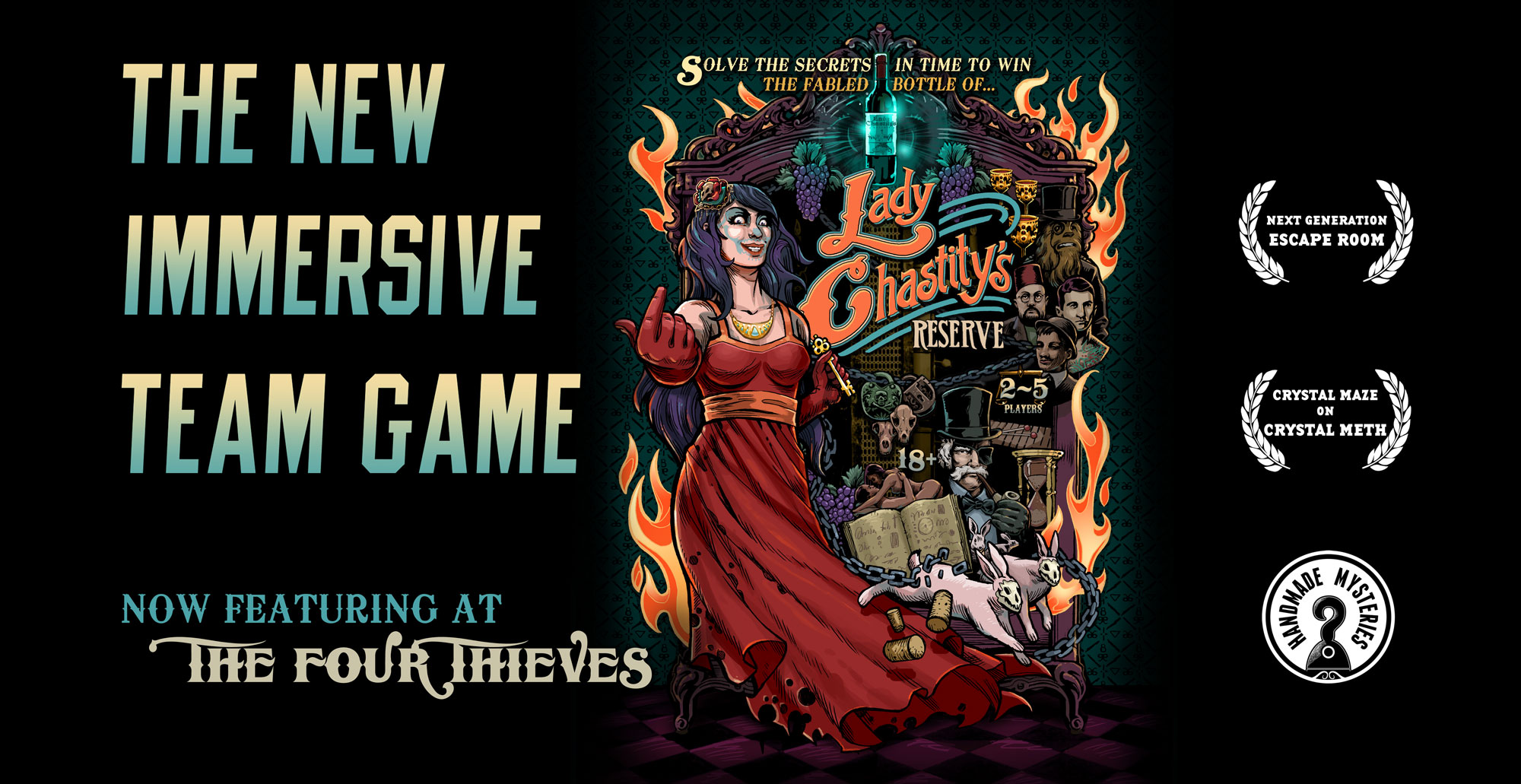 Lady Chastity's Reserve - A New Immersive Team Game