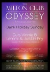 Odyssey Bank Holiday Sunday 3rd May