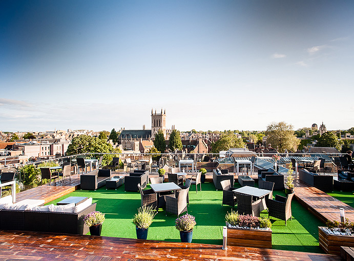 The Roof Terrace at the Varsity Hotel
