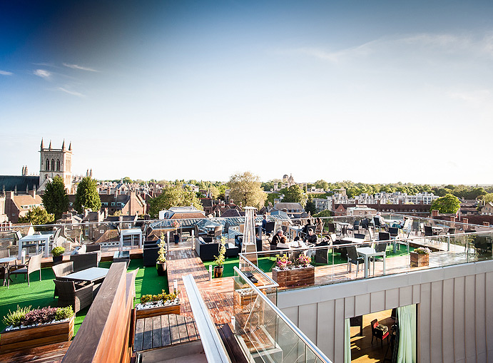 The Roof Terrace At The Varsity Hotel Cambridge Bar
