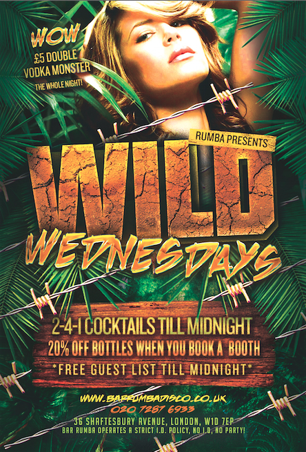 Wild Wednesdays West End London Fun Time Partying