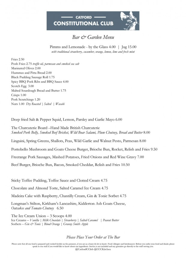 Catford constitutional club london bar reviews designmynight bar and garden menu spiritdancerdesigns Image collections