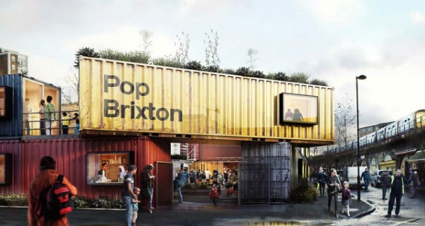 Pop Market Street Food Shipping Containers Brixton