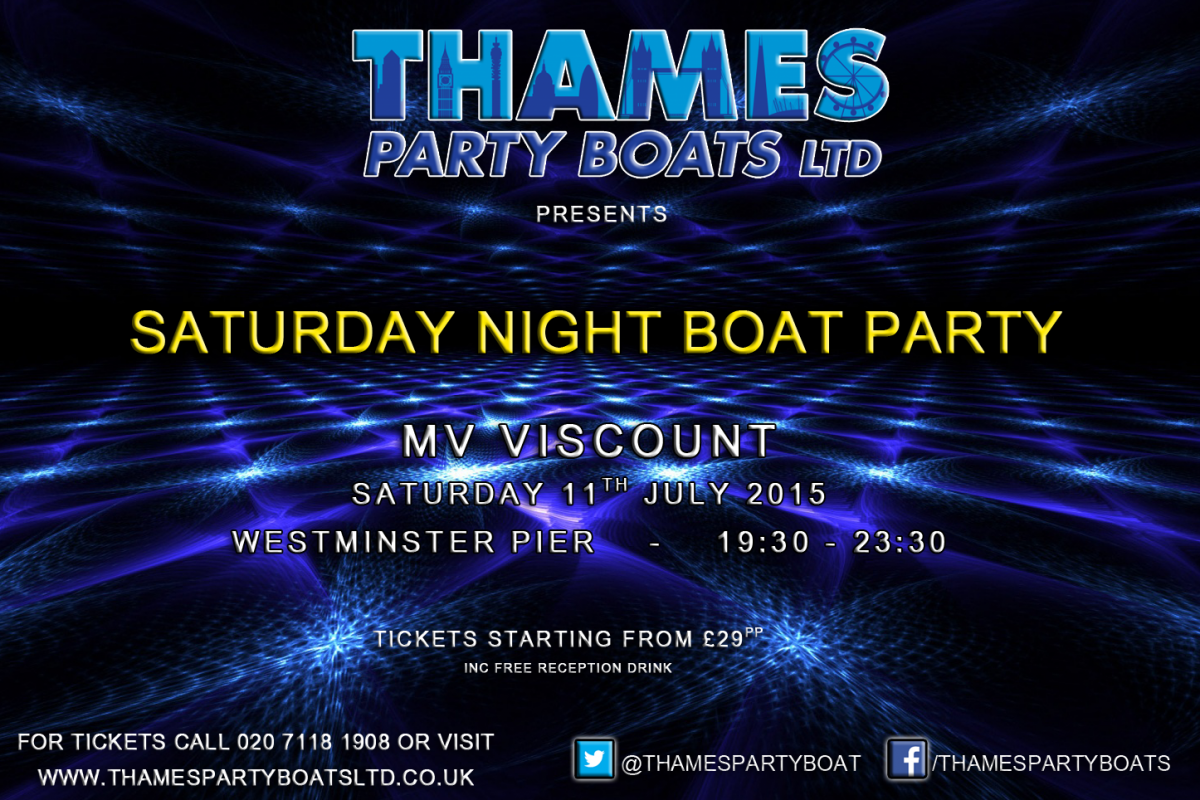 Saturday Night Boat Party Cruise MV Viscount London ...
