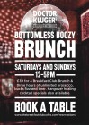 Dr Kluger's  Weekend Boozy Brunch: The Breakfast Club Canary Wharf