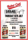 Huber beer and Clockjack chicken burger evening