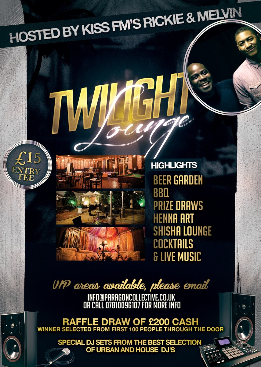 KISS FM'S RICKIE & MELVIN HOST THE TWILIGHT LOUNGE : PARAGON NIGHTS