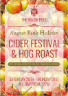 The Water Poet Bank Holiday Cider Festival & Hog Roast