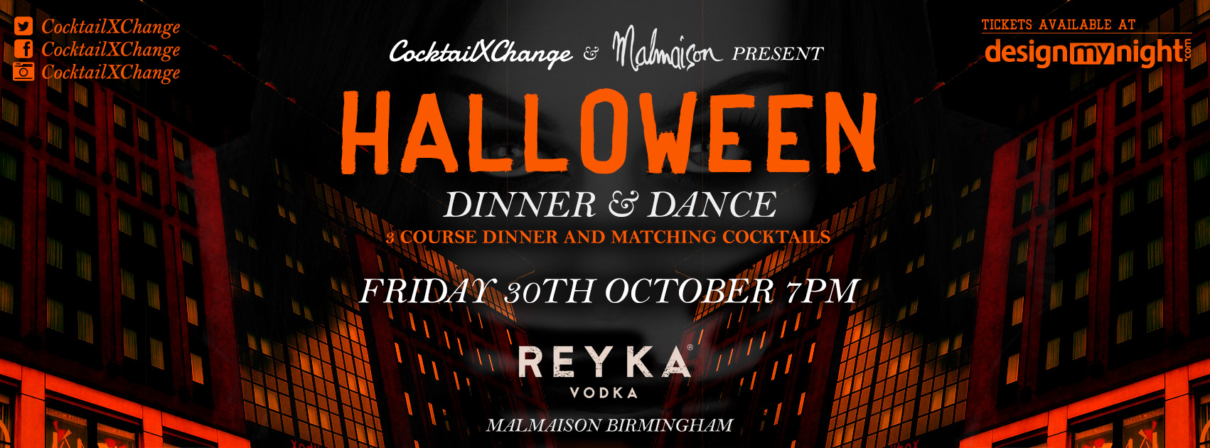 CocktailXChange and Malmaison Presents Halloween Dinner & Dance